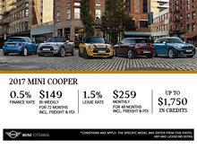 MINI's Monthly Sales Event!