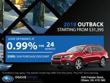 Get the 2018 Subaru Outback