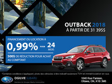 Obtenez le Subaru Outback 2018
