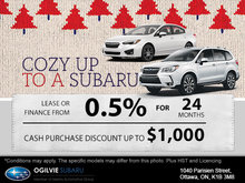 Cozy Up to a Subaru Sales Event