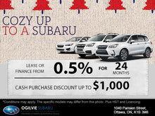 Cozy Up to a Subaru Sales Event