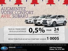 La vente Augmentez votre confort avec Subaru