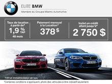Vente mensuelle chez Elite BMW