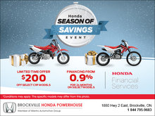 Season of Savings Event - Motorcycles