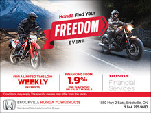 Find Your Freedom Event - Motorcycles