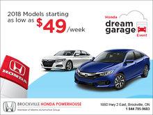 Honda dream garage!