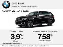 Conduisez le BMW X5 xDrive35i 2018 aujourd'hui!