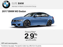 Save on the 2017 BMW M3 Sedan Today