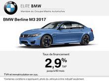 La BMW Berline M3 2017 en rabais