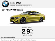Save on the 2017 BMW M4 Coupé Today