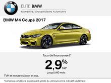 La BMW M4 Coupé 2017 en rabais