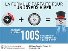 Obtenez jusqu'à 100$ de rabais sur les pneus d'hiver