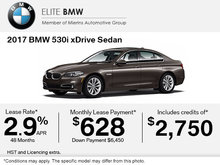 Get the 2017 BMW 530i xDrive Today!