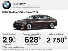 Obtenez le BMW 530i xDrive 2017 aujourd'hui!