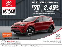 Save on the 2018 Toyota RAV4!