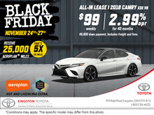 Black Friday - 2018 Camry