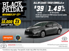 Black Friday - 2018 Corolla