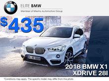 Get the 2018 BMW X1 xDrive 28i