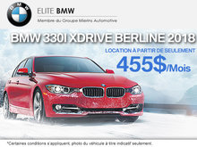Obtenez le BMW 330i xDrive Berline 2018