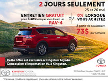 Vente exclusive Kingston Toyota - 2 jours seulement!