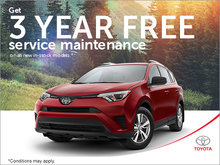 3 Year Free Service Maintenance!