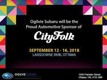 Ogilvie Subaru: Proud Sponsors of CityFolk 2018!