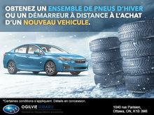 Obtenez un ensemble de pneus d'hiver ou un démarreur à distance!