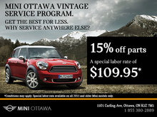 Mini Ottawa Vintage Service Program