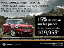 Programme d'entretien pour voiture de collection MINI Ottawa