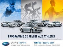 Programme remise aux athlètes