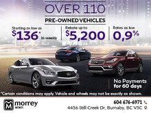 Over 110 Pre-Owned Vehicles at Morrey Infiniti