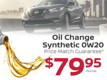 Oil Change Synthetic 0W20