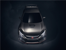 Here is the new 2017 Honda Civic Type R production version