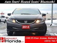 2014 Honda Civic Sedan LX Auto Start! Heated Seats! Bluetooth! Power Options!