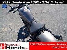 2018 Honda Rebel 300 - ABS TBR Exhaust!  Urban Street Appeal!
