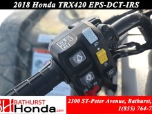 2018 Honda TRX420 DCT - IRS - EPS Rear Seat! Dual Clutch Transmission! Independant Rear Suspension! Electronic Power Steering!