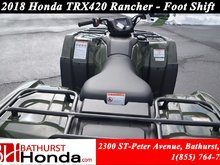 2018 Honda TRX420 Rancher Foot-Shift! Efficient engine! Easy start!