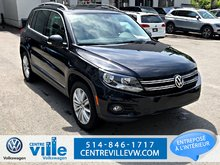 2015 Volkswagen Tiguan HIGHLINE (NAV+BROWN LEATHER INTERIOR+PANO ROOF))