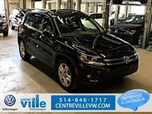 2016 Volkswagen Tiguan COMFORTLINE 4MOTION+CARPLAY+CUIR+CAMERA+++(CLEAN!)