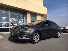 Ford Fusion Energi SE Luxury, HYBRIDE RECHARGEABLE, CUIR, BAS MILLAGE 2017