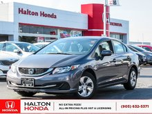 2014 Honda Civic LX|SERVICE HISTORY ON FILE|ACCIDENT FREE