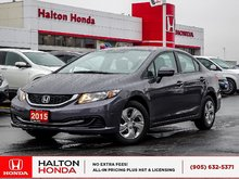 2015 Honda Civic LX|NO ACCIDENTS|ONE OWNER