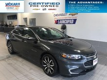2018 Chevrolet Malibu LT  NAVIGATION, SUNROOF, LEATHER INTERIOR, BACK UP CAMERA  - $160.84 B/W