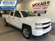 2017 Chevrolet Silverado 1500 Custom  5.3L V8, 4X4, DOUBLE CAB, UPGRADED RIMS  - $221.45 B/W