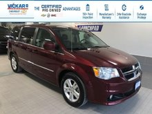 2017 Dodge Grand Caravan Crew STOW N GO, LEATHER SEATS,POWER REAR DOORS AND HATCH  - $160.80 B/W