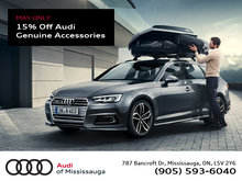 15% Off Audi Genuine Accessories
