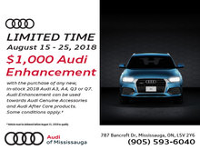 Audi Enhancement Bonus