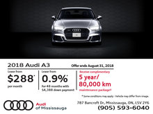 Audi A3: Summer of Audi Sales Event