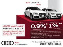 Audi Certified :plus Offer October 2018