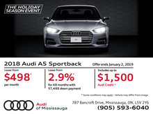 Drive the 2018 Audi A5 Sportback today!